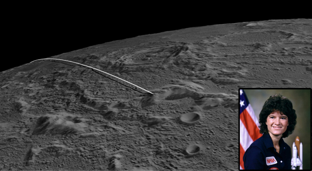 The final flight path for NASA's twin GRAIL mission spacecraft to impact the moon on Dec. 17.
