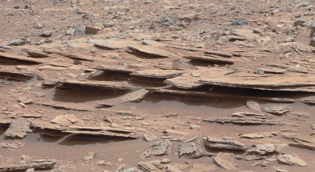 Layered Martian Outcrop 'Shaler' in 'Glenelg' Area