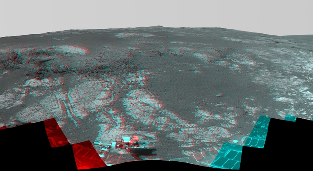 'Matijevic Hill' Panorama for Rover's Ninth Anniversary (Stereo)