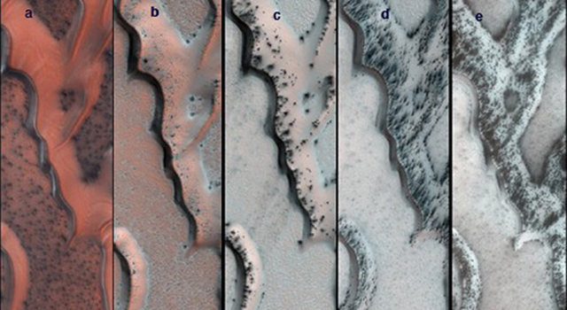 Seasonal Changes on Far-Northern Mars