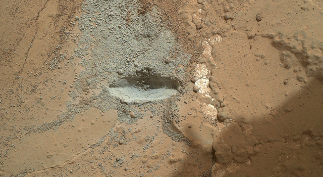 Preparatory Test for First Rock Drilling by Mars Rover Curiosity