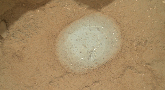 Target 'Wernecke' After Brushing by Curiosity
