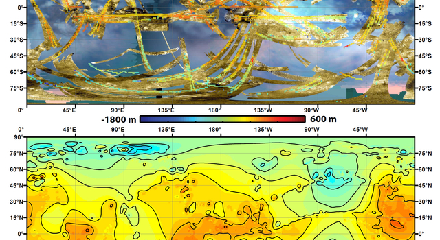 News   Cassini Shapes First Global Topographic Map of Titan