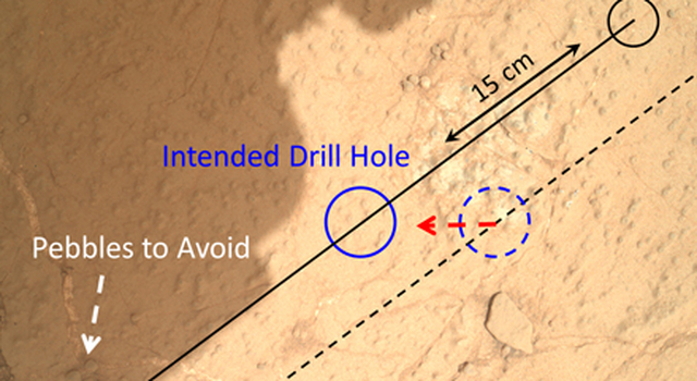Checking Contact Points for Curiosity's Drill