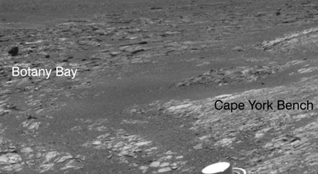 Opportunity's View Leaving 'Cape York'