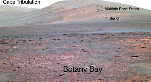 Opportunity's view of 'Solander Point'