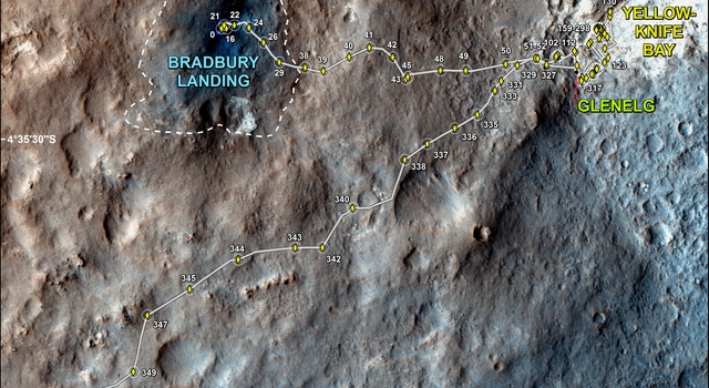 Full Curiosity Traverse Passes One-Mile Mark