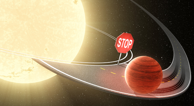 On the Road Toward a Star, Planets Halt Their Migration