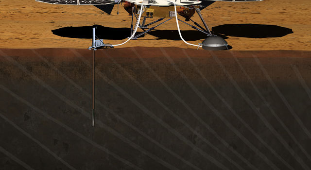 Artist's Concept of InSight Lander on Mars