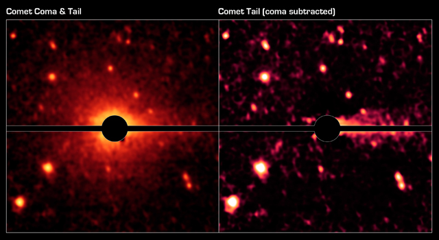 Spitzer Spies a Comet Coma and Tail