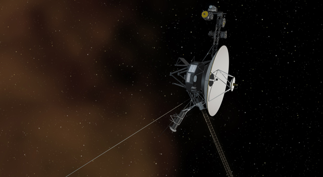 The Space Between: This artist's concept shows the Voyager 1