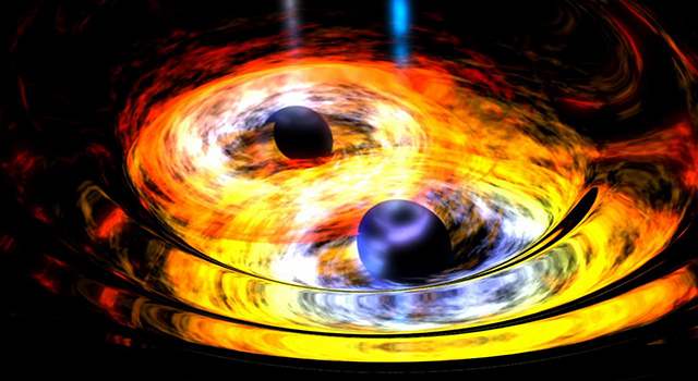 Two Black Holes on Way to Becoming One