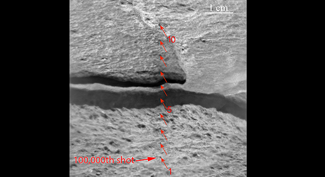 Target for 100,000th Laser Shot by Curiosity on Mars