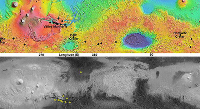 Maps of Recurrent Slope Linea Markings on Mars