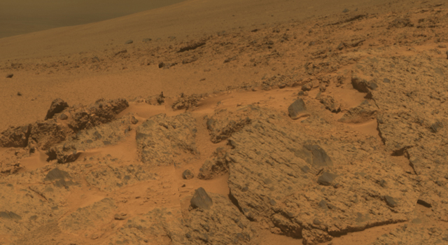 outcrop on the 'Murray Ridge' portion of the rim of Endeavour Crater
