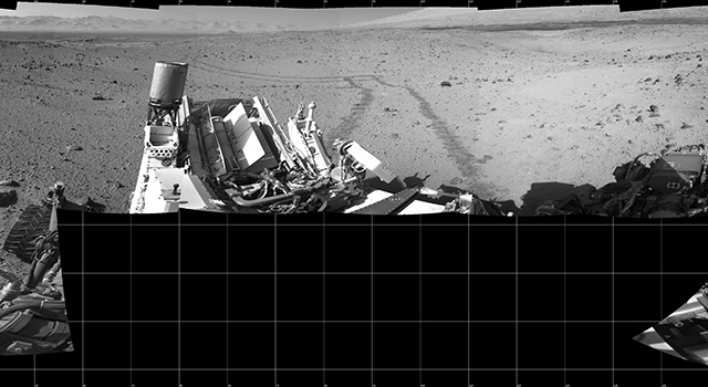 Full-Circle Vista During Curiosity's Approach to 'Dingo Gap'