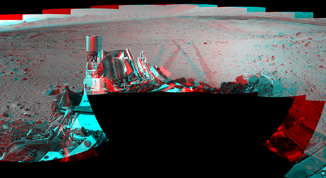 Full-Circle Vista During Curiosity's Approach to 'Dingo Gap' (Stereo)