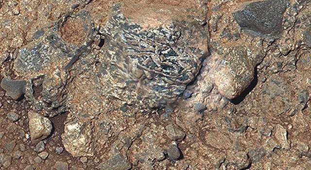 Martian Rock 'Harrison' in Color, Showing Crystals