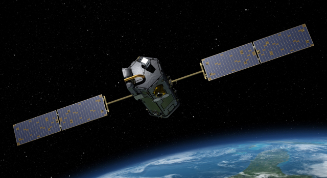 Artist's Concept of Orbiting Carbon Observatory