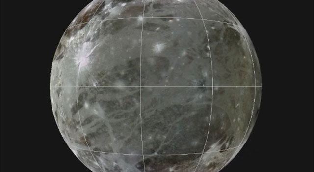 Rotating Globe of Ganymede Geology