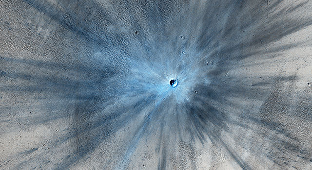 A Spectacular New Martian Impact Crater