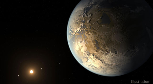 This artist's concept by Tim Pyle depicts Kepler-186f