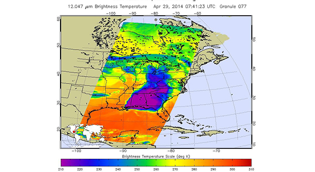 NASA Satellite Spots Severe Weather Outbreak in South