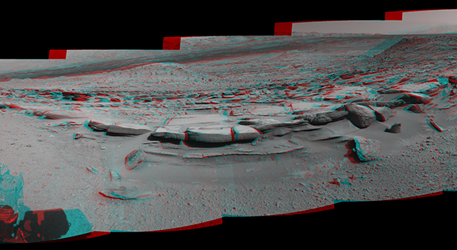 Panorama With Sandstone Outcrop Near 'The Kimberley' Waypoint (Stereo)