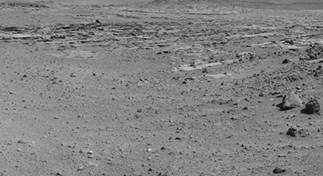Curiosity's View From Before Final Approach to 'The Kimberley' Waypoint