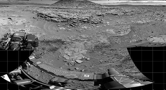 'Mount Remarkable' at Mars Rover's Waypoint