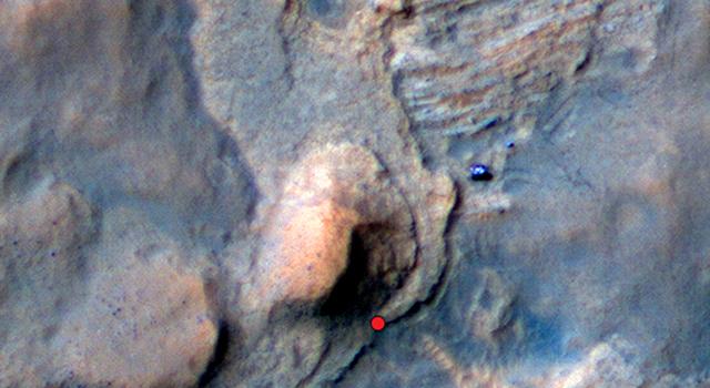 Location of Mars Sandstone Target 'Windjana'