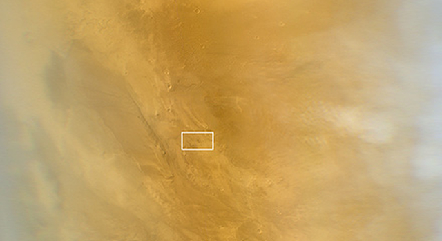 This March 20, 2014, image from the MARCI camera on NASA's Mars Reconnaissance Orbiter