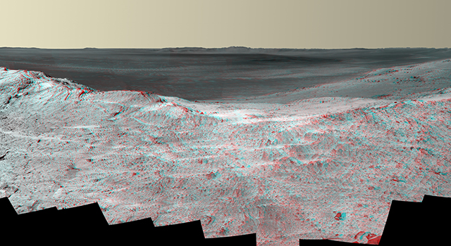 'Pillinger Point' Overlooking Endeavour Crater on Mars (Stereo)