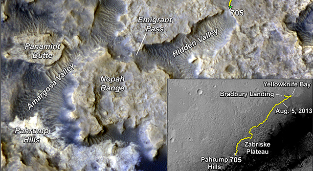 Sandy Martian Valleys in Curiosity's Near Future