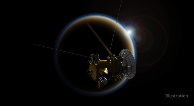 Cassini made its final, distant flyby of Saturn's moon Titan on Sept. 11, which set the spacecraft on its final dive toward the planet.