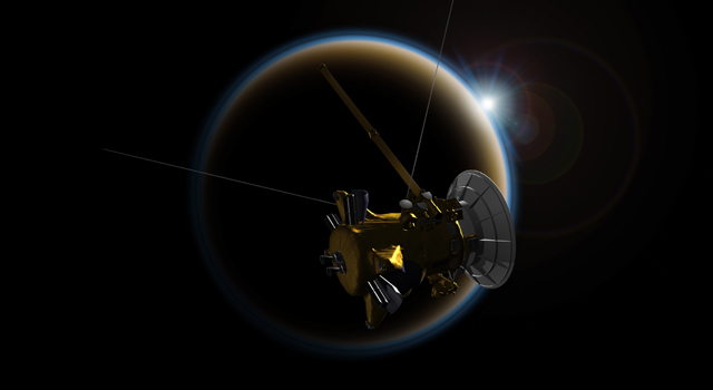 Artist's rendering of NASA's Cassini spacecraft