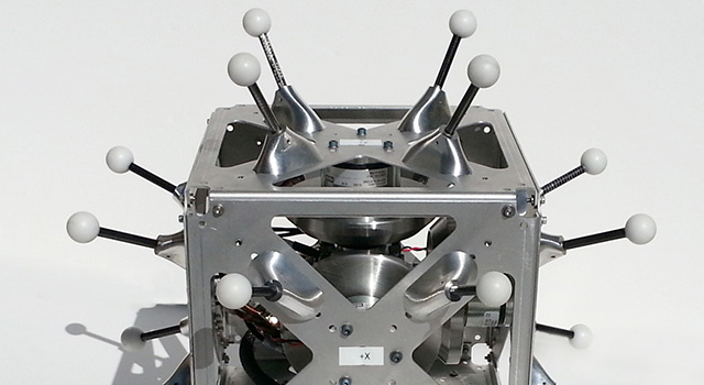 This is a hopping/tumbling robot called