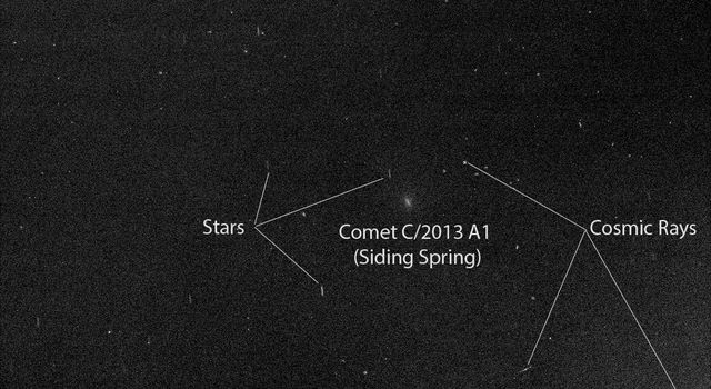 Mars Rover Opportunity's View of Passing Comet
