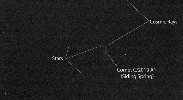 Mars Rover Opportunity's View of Passing Comet (Short Exposure)