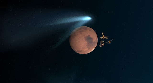 Mars Orbiters 'Duck and Cover' for Comet Siding Spring Flyby
