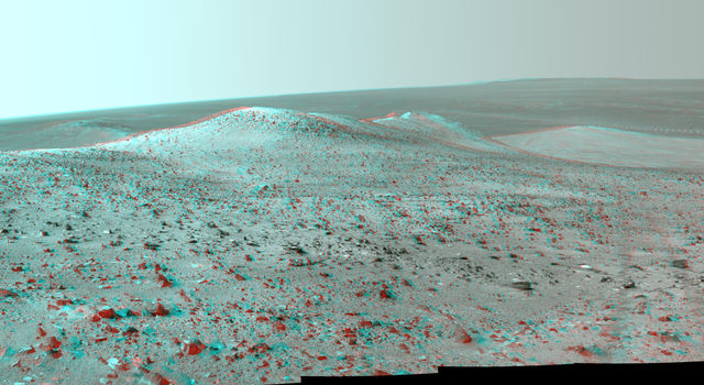 Opportunity's Northward View of 'Wdowiak Ridge' (Stereo)