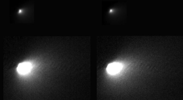 These images were taken of comet C/2013 A1 Siding Spring by NASA's Mars Reconnaissance Orbiter on Oct. 19, 2014