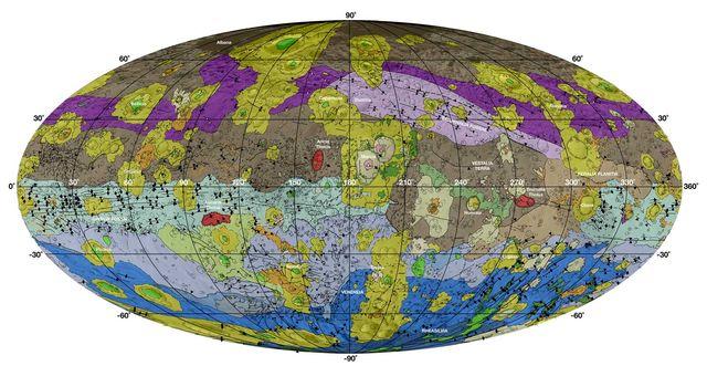Geological Map of Vesta