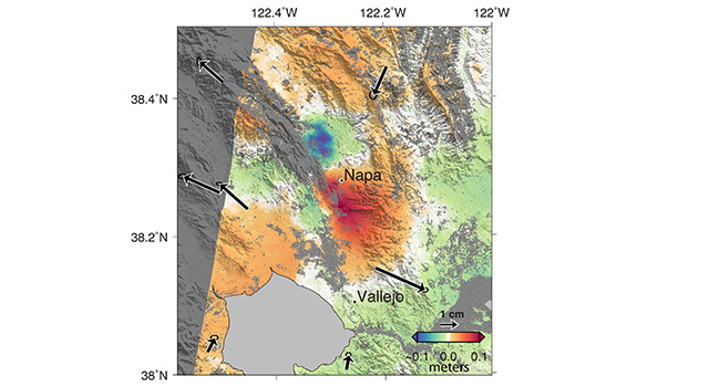 NASA Analyses of Global Positioning System Data and Italian Radar Satellite Data Reveal Napa Quake Ground Deformation