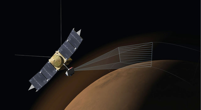 Artist's Concept of MAVEN's Imaging Ultraviolet Spectrograph at Work