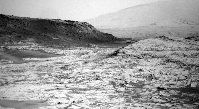 Image Relayed by MAVEN Mars Orbiter from Curiosity Mars Rover
