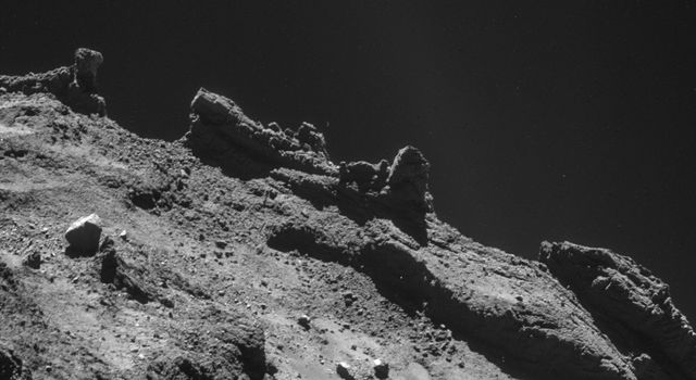 Jagged Horizon on Rosetta's Destination Comet