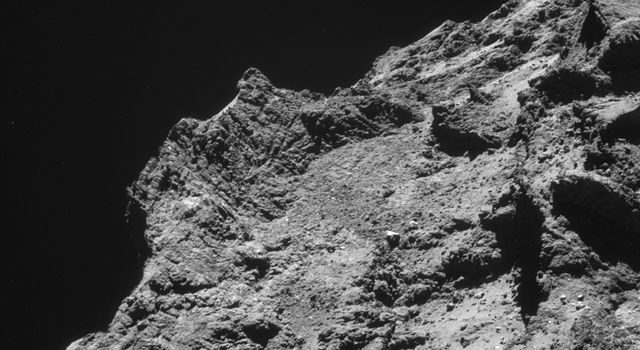 Rough Terrain on Rosetta's Destination Comet