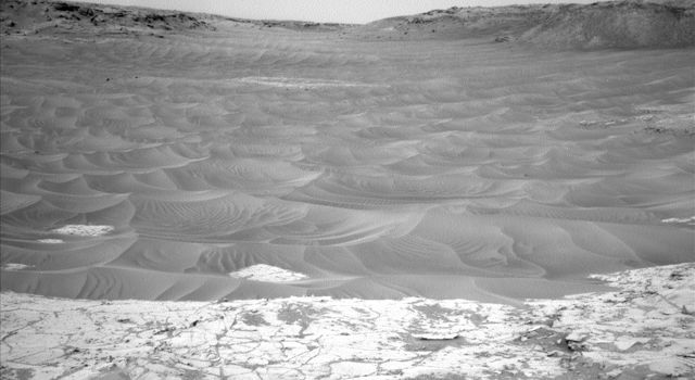 Ripples Beside 'Pahrump Hills' Outcrop at Base of Mount Sharp