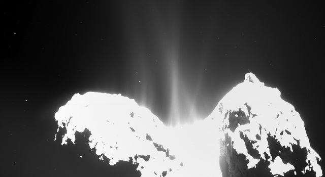 Rosetta Comet Spreads Its Jets